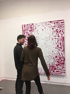 Reb T, Artist, Portrait, contemporary art, dildos, white oil paint, opening exhibition