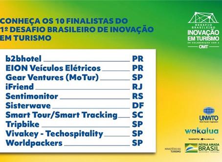 Conheça os finalistas do 1º Desafio Brasileiro de Inovação em Turismo