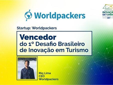 Worldpackers é a grande vencedora do 1º Desafio Brasileiro de Inovação em Turismo