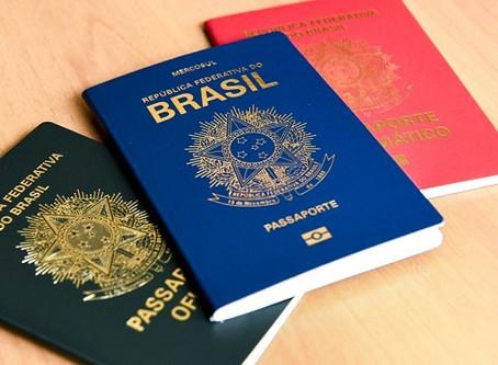 Passaporte brasileiro é o 19º mais aceito no mundo