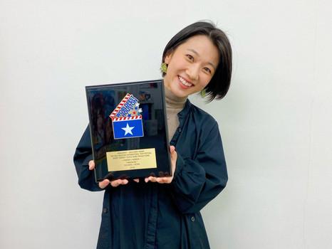 米/ヒューストン国際映画祭 金賞盾を頂きました!