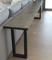natural edge sofa table
