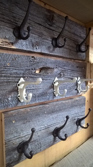 barn board coat hooks