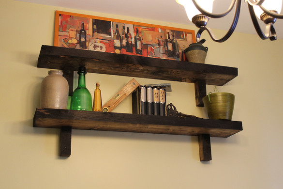 rough lumber shelving