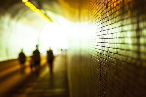 light at the end of the tunnel with peop