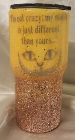 30oz Glitter ombre with chunky glitter b