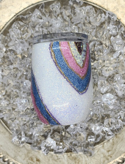 12oz Stemless Wine Tumbler Reverse Geode