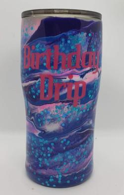 20oz Color dye swirl