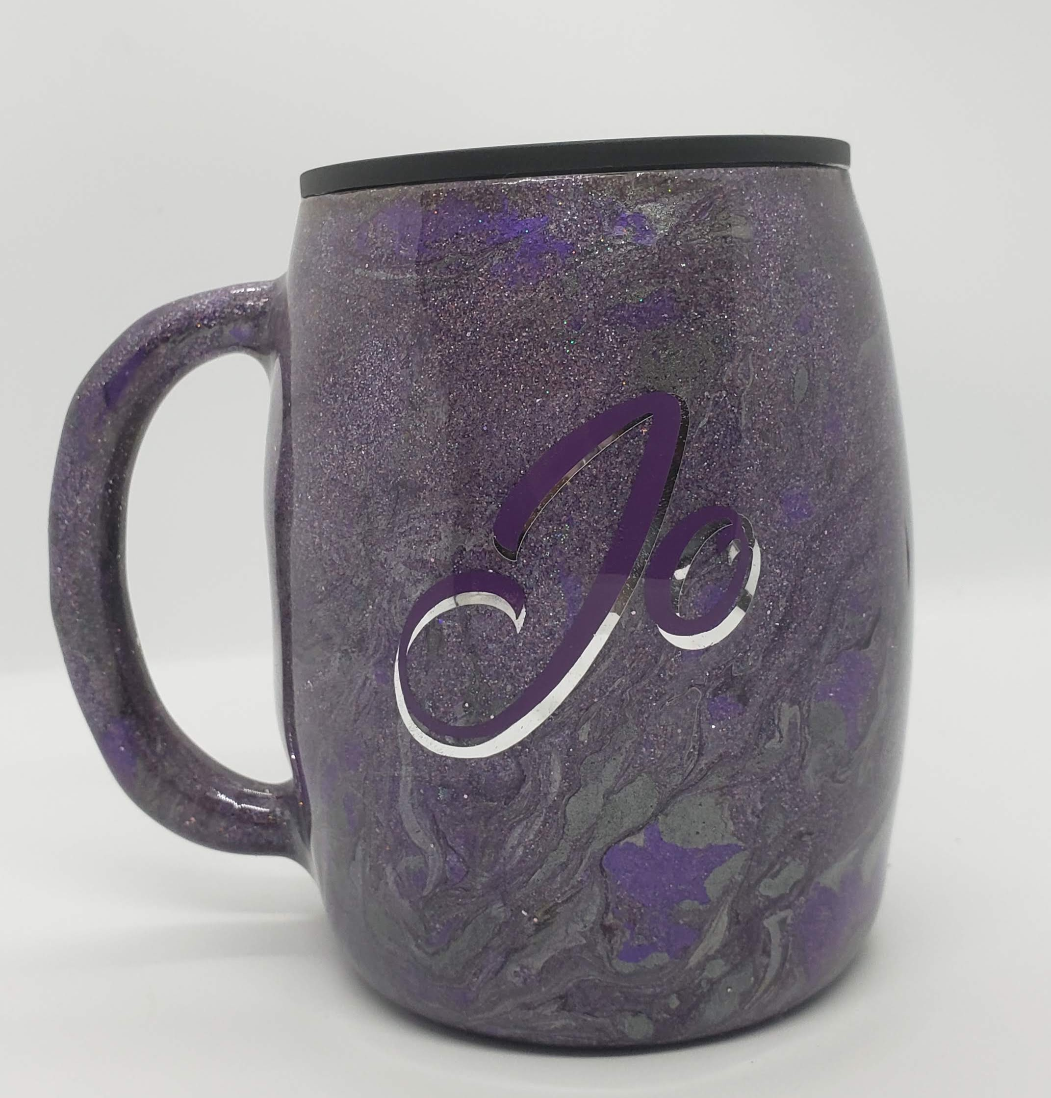 14oz Stainless steel coffee mug - glitte