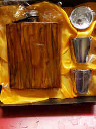 Wood grain flask