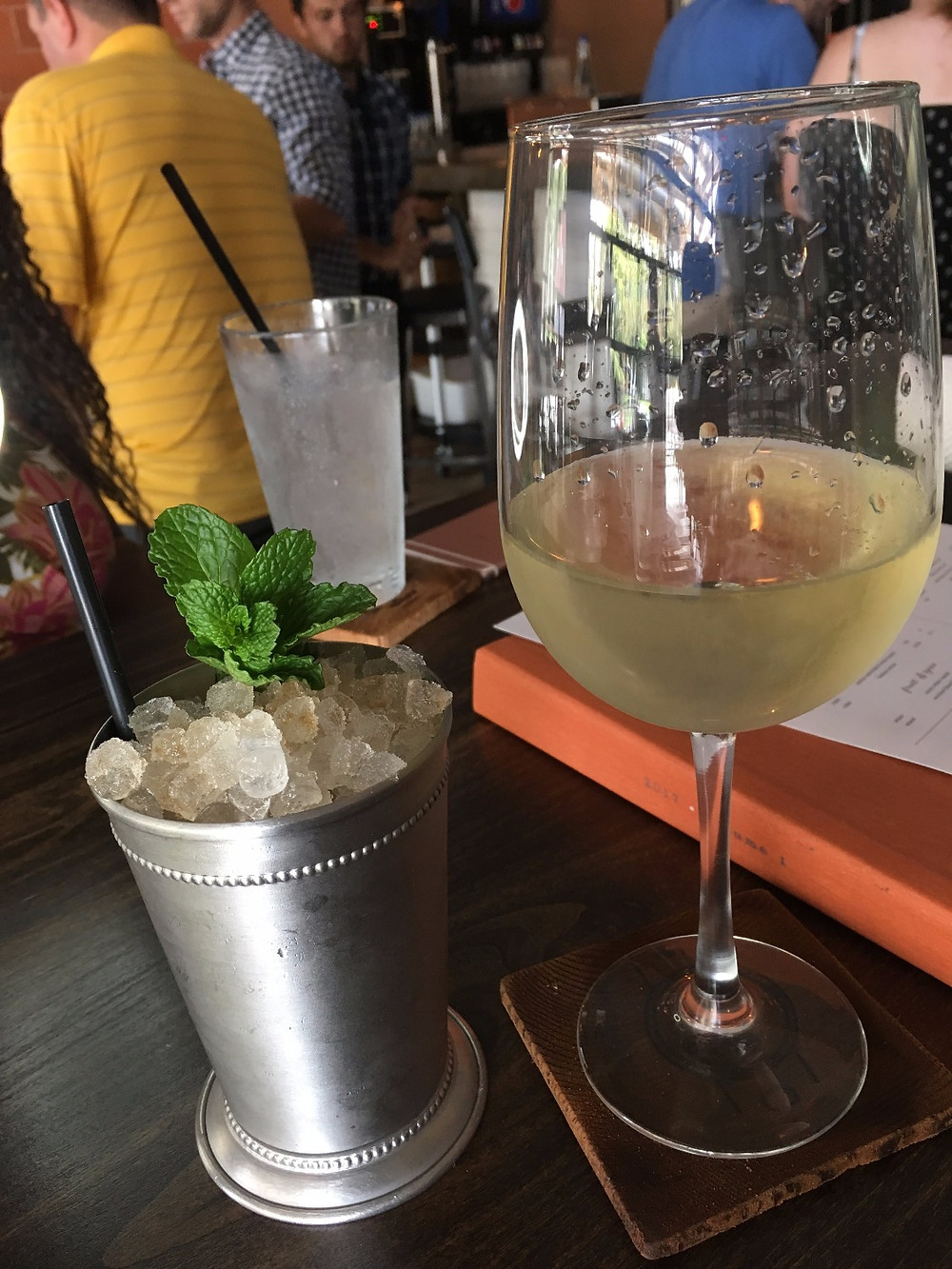 Sparkling wine and the Steel Cup bourbon cocktail