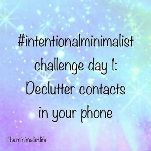 declutter phone contacts
