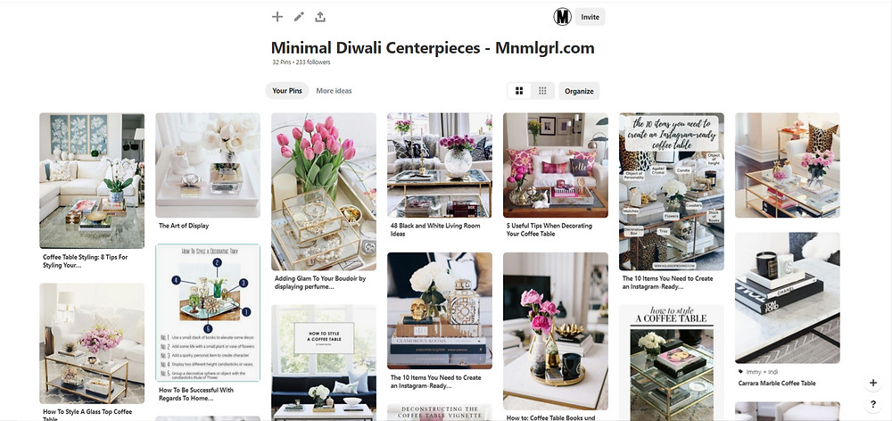 minimal diwali centerpieces inspiration
