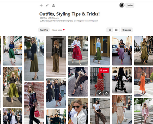 favorite outfit pinboard on pinterest