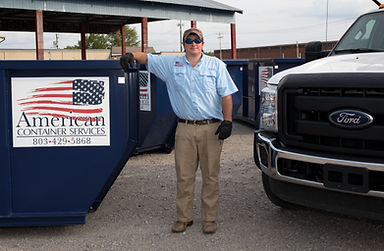 Residential dumpster service at American Container Services