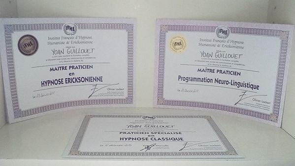 Diplomes hypnose angers - hypnothérapeute certifié