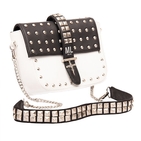 ML Studded Flap Shoulder Bag