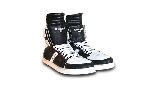 Black and White ML/20 Leather Sneakers