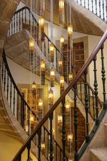Romantic Candles Spiral staircase.