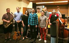 Recording session in Myers Recording Studio