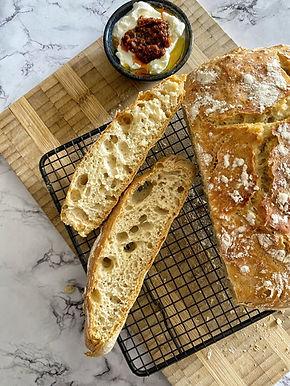לחם פרוע ללא לישה