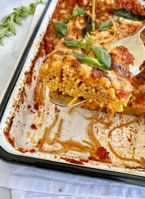 פשטידת פסטה בלי בישול מקדים