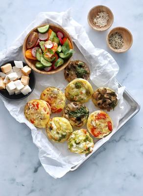 מאפינס חביתה עם ירקות ותוספות