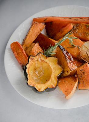 ירקות כתומים מקורמלים