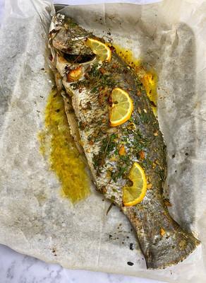דג שלם בתנור