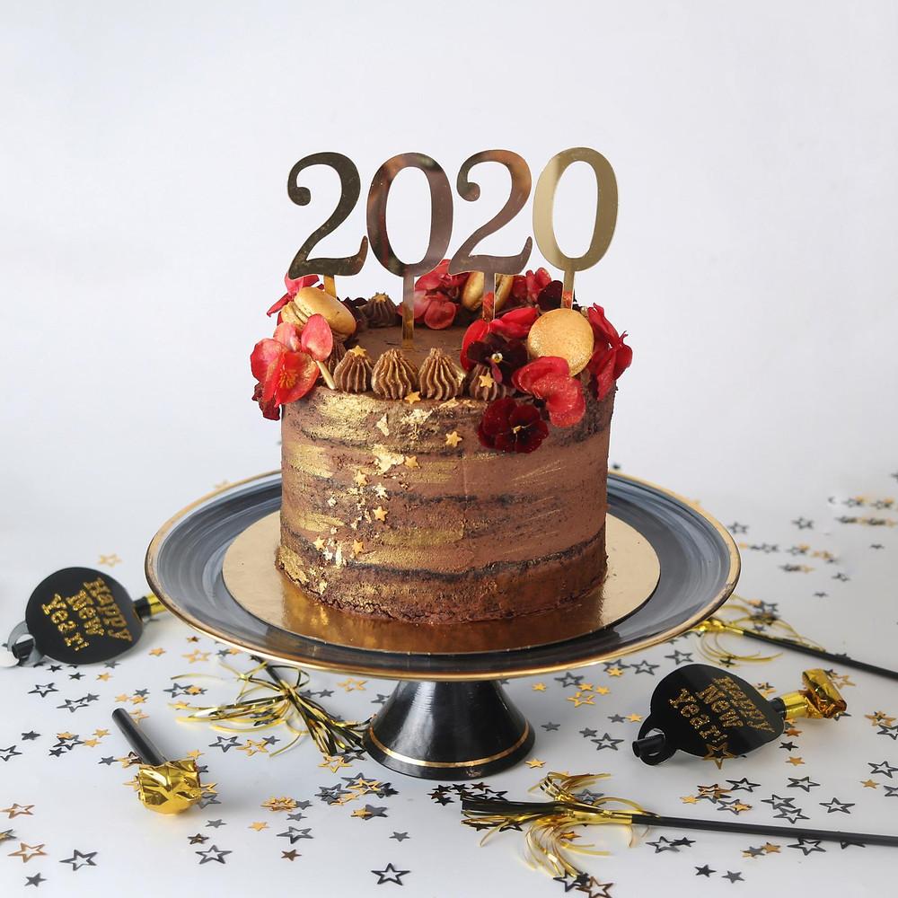 עוגת סילבסטר עוגת שוקולד חגיגית