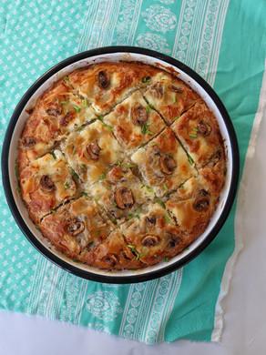 בניצה מאפה מבצק פילו עם גבינות ופטריות
