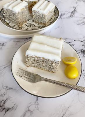 עוגת פרג לימונית