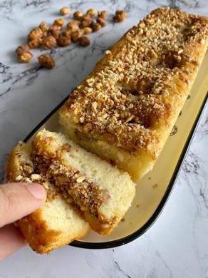 עוגת אגסים עם אגוזים מסוכרים