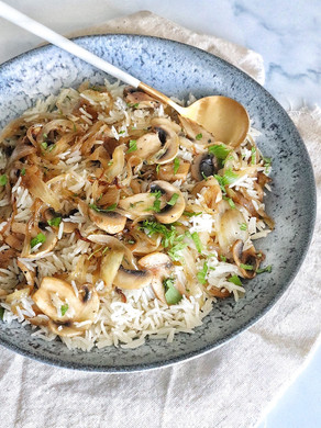האורז של אושר - אורז עם פטריות