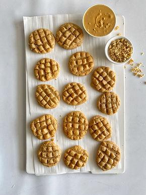 עוגיות חמאת בוטנים מעוצבות מ-3 מרכיבים