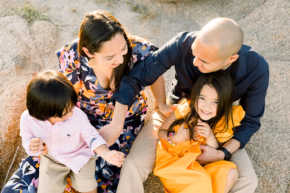Family photo session by Ashley Norton Photography in Clovis, CA.