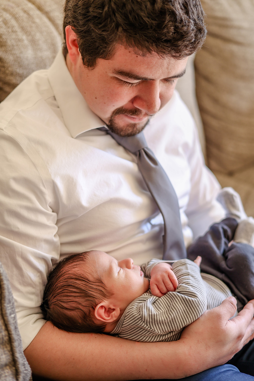 Newborn lifestyle session by Ashley Norton Photography in Clovis.