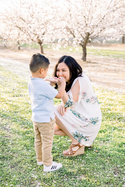 Clovis blossom family session by Ashley Norton Photography