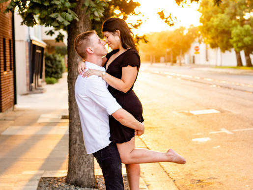 Andi & Gary's Engagement Session | Downtown Visalia, CA