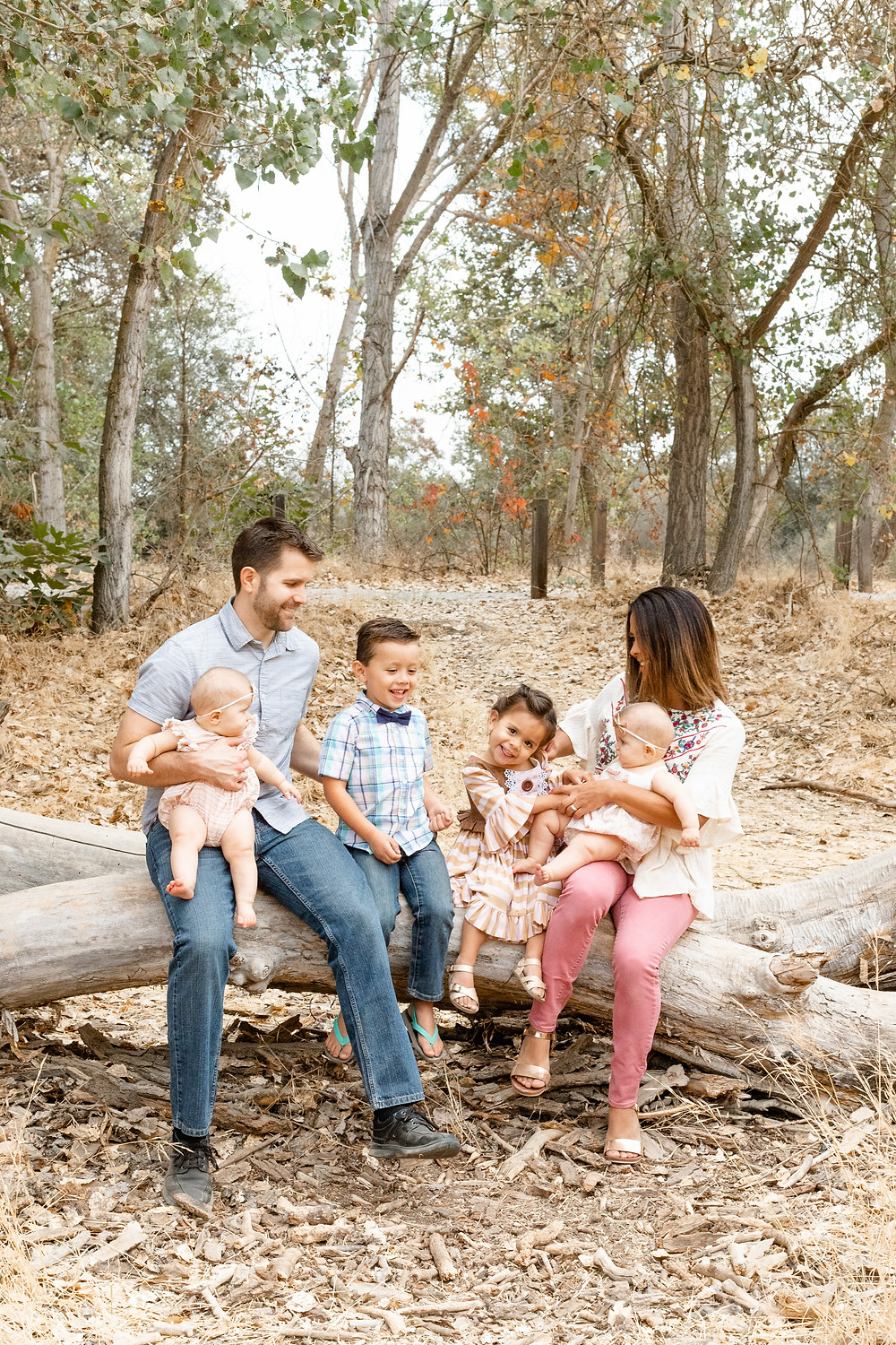 A family lifestyle portrait session in Fresno, CA.
