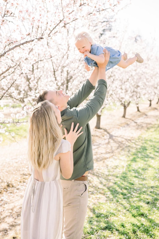 Clovis, CA blossom family session by Ashley Norton Photography