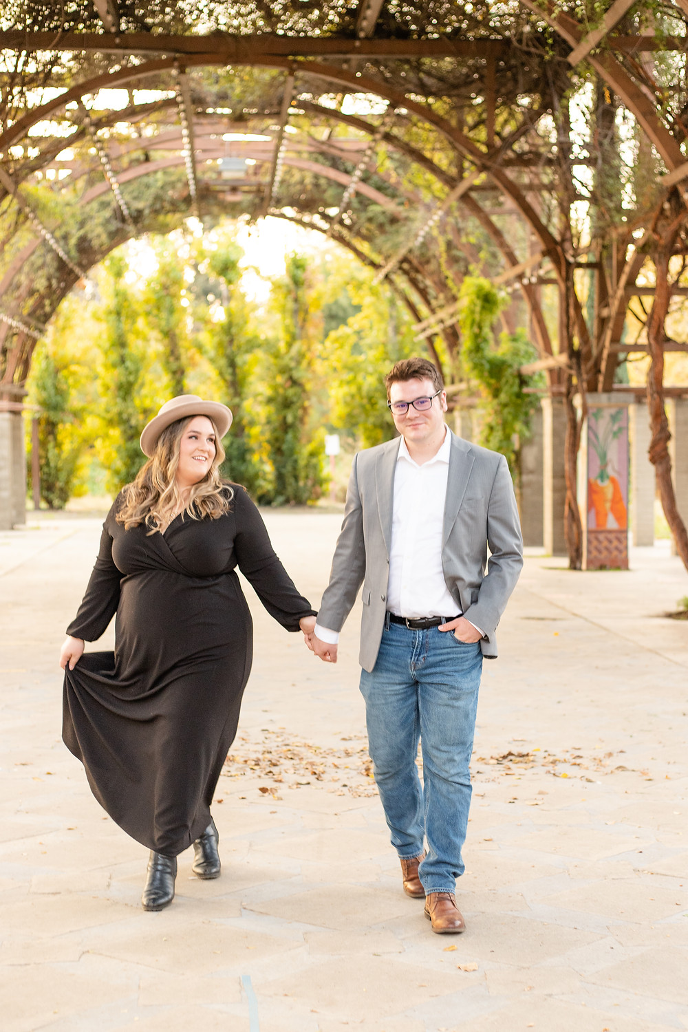 A couples session in Fresno, CA by Ashley Norton Photography.
