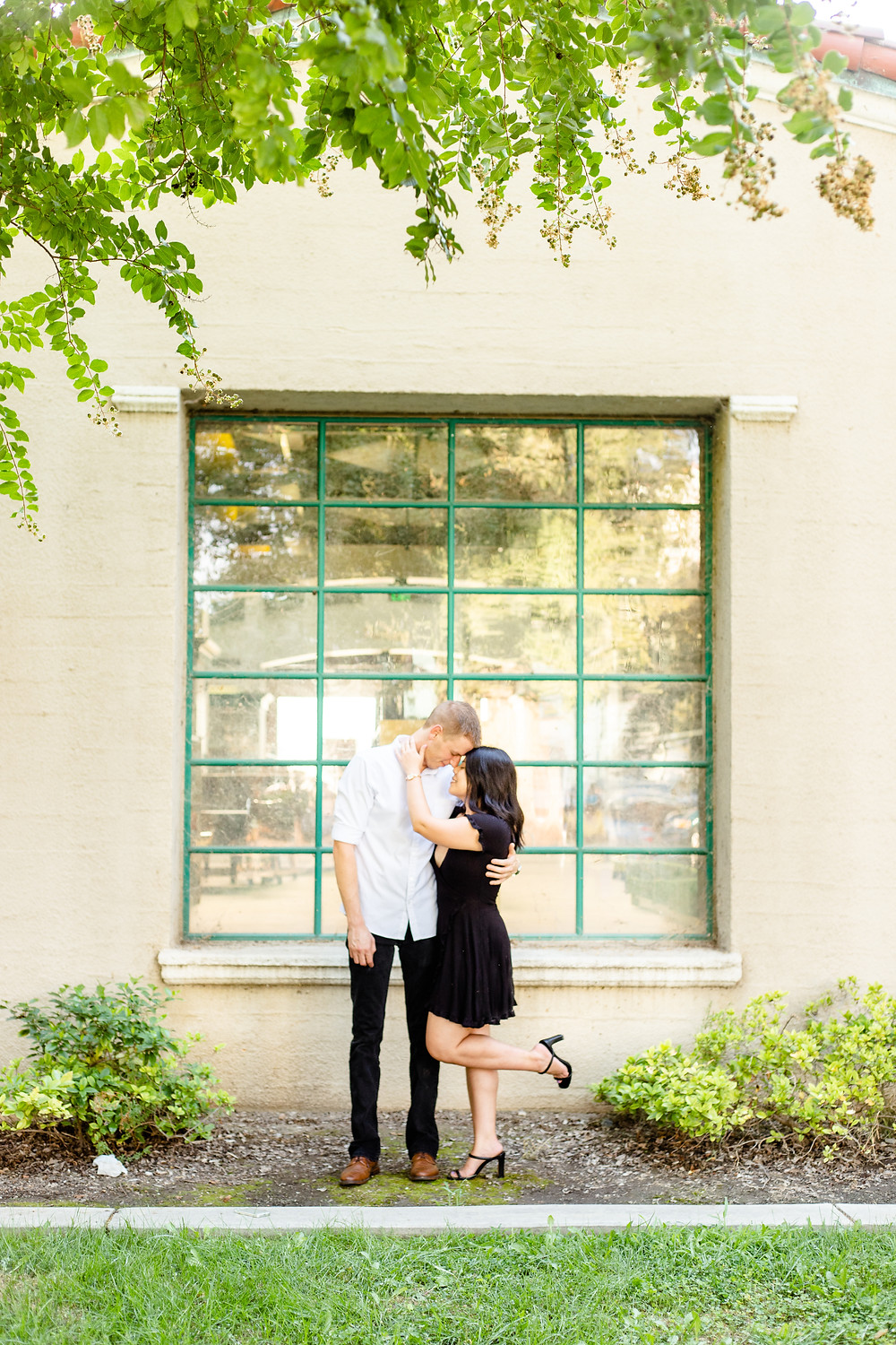 A couple does their engagement session with Ashley Norton Photography in Visalia, CA.