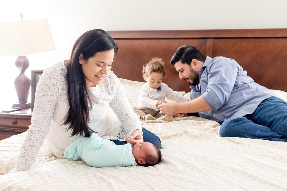 Lifestyle session by Clovis newborn and family photographer Ashley Norton.