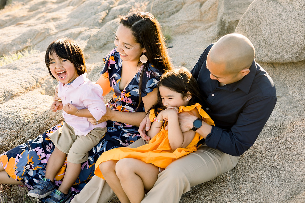 Family photo session by Ashley Norton Photography in Fresno, CA.