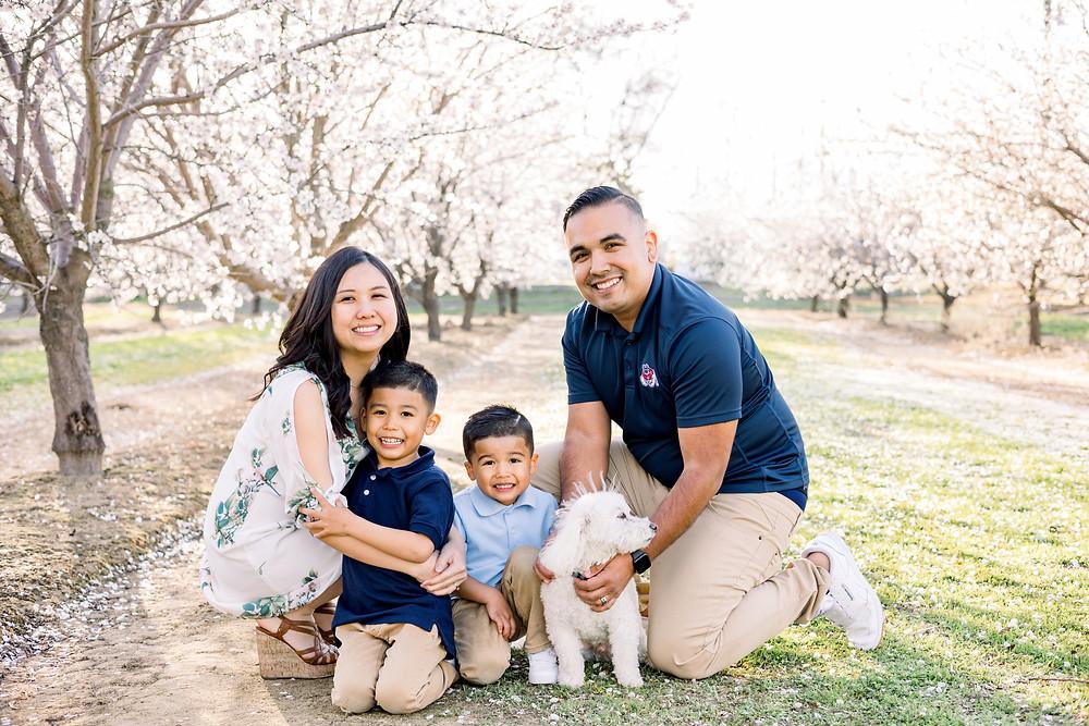 Fresno blossom family session by Ashley Norton Photography