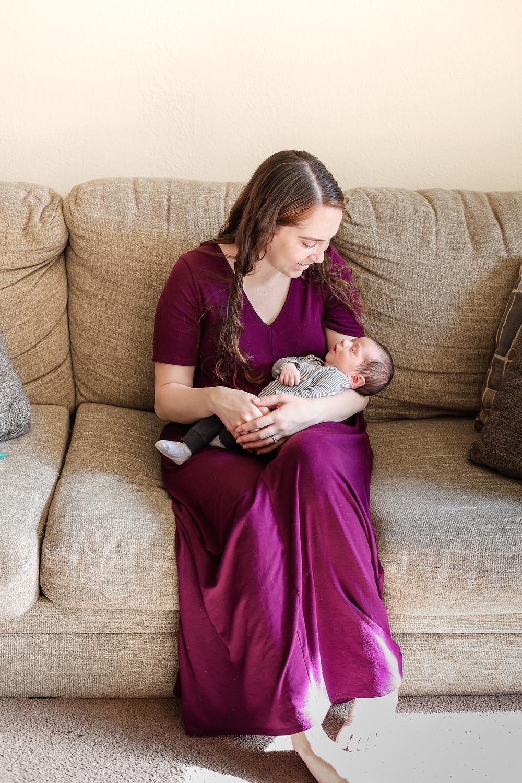 Newborn lifestyle session by California photographer Ashley Norton.