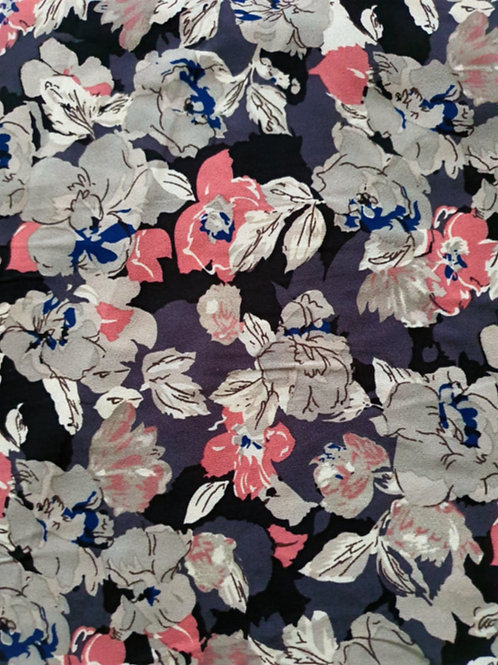 Busy Floral Printed Crepe