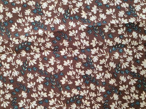 Double Colour Flower Print Crepe - NEW
