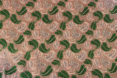 Double Paisley Leaf Viscose - Pink